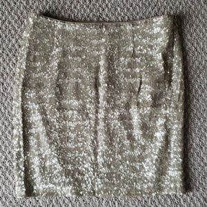 Cache Size 4 Gold Sequin Skirt